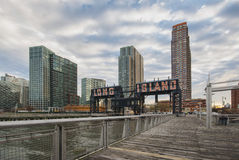 Gantry Plaza State Park, Long Island City, New York, United States. Gantry Plaza State Park is a 12-acre riverside oasis that boasts spectacular views of the Royalty Free Stock Photography
