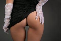 Gants blancs Photographie stock
