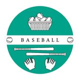 Gants, boules, battes de baseball Équipement de base-ball Image libre de droits