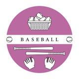 Gants, boules, battes de baseball Équipement de base-ball Photos stock