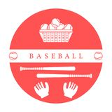 Gants, boules, battes de baseball Équipement de base-ball Photos libres de droits