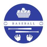 Gants, boules, battes de baseball Équipement de base-ball Illustration de Vecteur