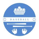 Gants, boules, battes de baseball Équipement de base-ball Illustration Libre de Droits