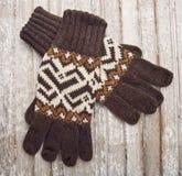 Gants chauds de l'hiver Image stock