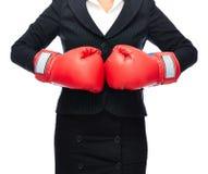 Gants d'affaires de boxe Images stock