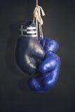 Gants de boxe comme symbole de la Grèce contre l'UE Images libres de droits