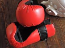 Gants de boxe d'entraînement du Taekwondo images stock