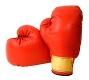 Gants de boxe d'isolement Photographie stock libre de droits