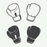 Gants de boxe dans le style de vintage Photographie stock libre de droits