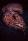 Gants de boxe de cru Photo libre de droits