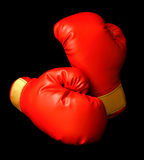 Gants de boxe rouges Photo libre de droits
