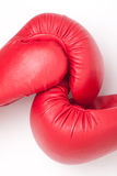 Gants de boxe rouges Photo stock