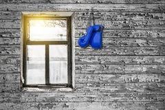 Gants de boxe sur le mur photographie stock libre de droits