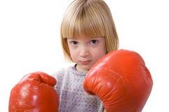 Gants de chasseur de boxe d'enfant photo stock