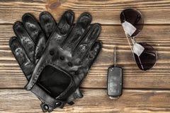 Gants de clés et d'entraînement de voiture Images libres de droits