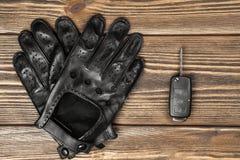 Gants de clés et d'entraînement de voiture Photos libres de droits