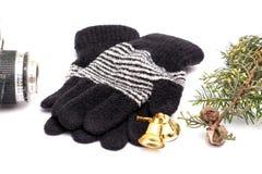 Gants de laine d'hiver chaud Photo stock