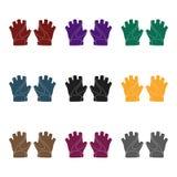 Gants de main de vélo pour des cyclistes Équipement de protection pour des athlètes Icône simple d'équipement de cycliste dans le Images stock