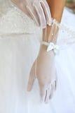 Gants de mariage Photographie stock libre de droits