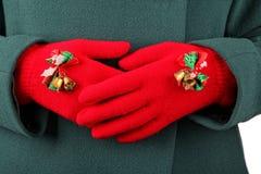 Gants de Noël photographie stock libre de droits