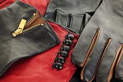 Gants en cuir Photographie stock libre de droits