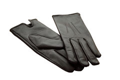 Gants en cuir de paires   Photos stock
