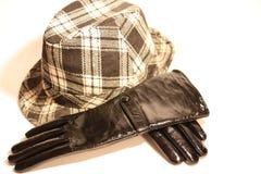 Gants et chapeau Images stock