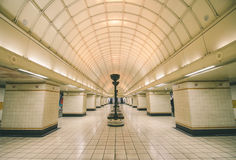 Gants Hill. Empty underground station taken on a not so busy day stock photography