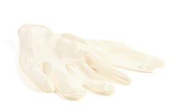 Gants médicaux en caoutchouc Image libre de droits
