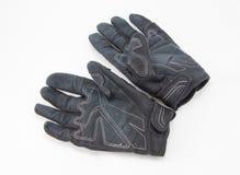 Gants noirs de moto d'isolement Images libres de droits