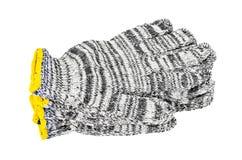 Gants noirs et blancs de coton Photo stock