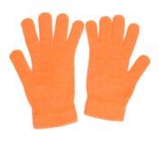 Gants oranges Image libre de droits