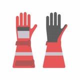 Gants protecteurs pour des sapeurs-pompiers illustration libre de droits