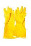 Gants sanitaires d'isolement Photo stock