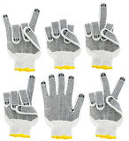 Gants, signes et positionnement fonctionnants de geste Photographie stock libre de droits