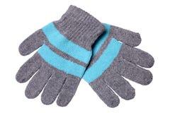 Gants tricotés de laine chauds Image libre de droits