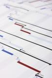 Gantt Chart Document. Shallow Depth of Field Royalty Free Stock Photo
