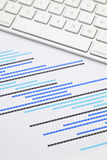 Gantt chart with keyboard Stock Photo