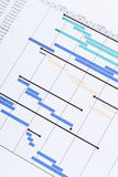 Gantt chart. In the paper Royalty Free Stock Photography