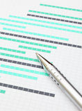 Gantt chart Royalty Free Stock Photos