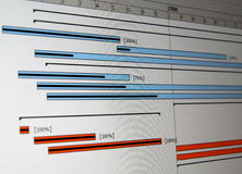 A Gantt chart is a type of bar Stock Images