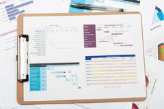 Gantt diagram Stock Photo
