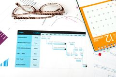 Gantt diagram Stock Images