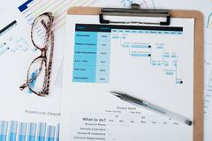 Gantt diagram Stock Photos