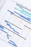 Gantt-Diagramm Lizenzfreie Stockfotografie