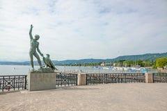 Ganymed Statue, Zurich, Switzerland Royalty Free Stock Photo