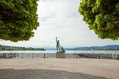 Ganymed Statue, Zurich, Switzerland Royalty Free Stock Photography