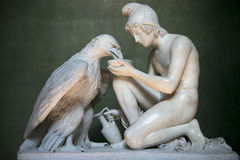 Ganymede with Jupiter Eagle by Bertel Thorvaldsen Stock Photography