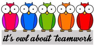 Ganz über Teamwork stock abbildung