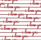 Ganz über Hintergrund - nahtloses Muster für Valentinstag ich liebe dich Stockbild